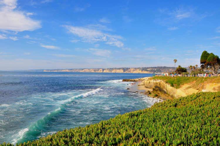 San Diego ocean view cliffs in Del Mar-Kids Are A Trip
