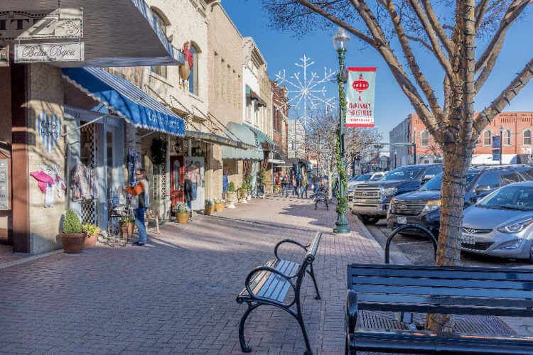 McKinney Texas Main Street at Christmas-Kids Are A Trip