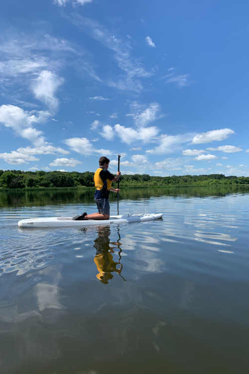 Paddleboarding Icelandic State Park North Dakota-Kids Are A Tripjpg