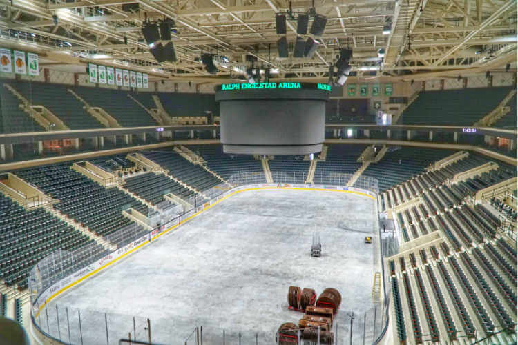 Ralph Engelstad Arena Grand Forks North Dakota road trip-Kids Are A Trip