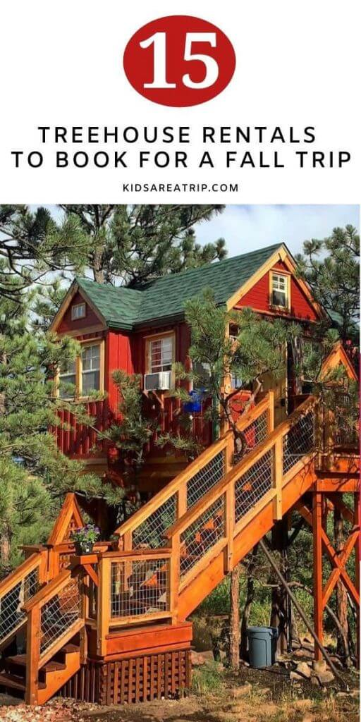 Treehouse Rental for Fall-Kids Are A Trip