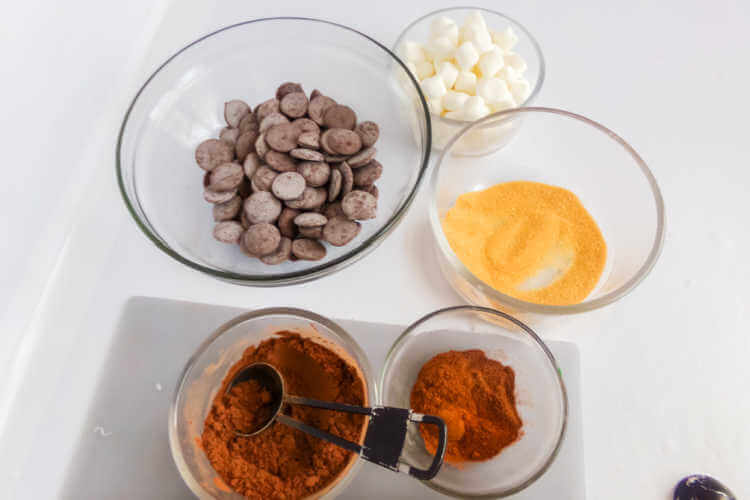 Ingredients for Mexican Cocoa Hot Chocolate Bomb Recipe-Kids Are a Trip