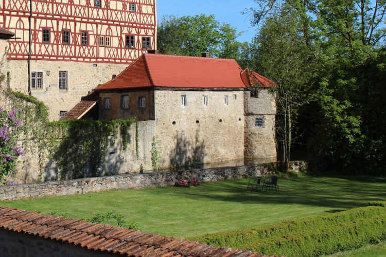 Moat House next to Castle in Germany-Kids Are A Trip
