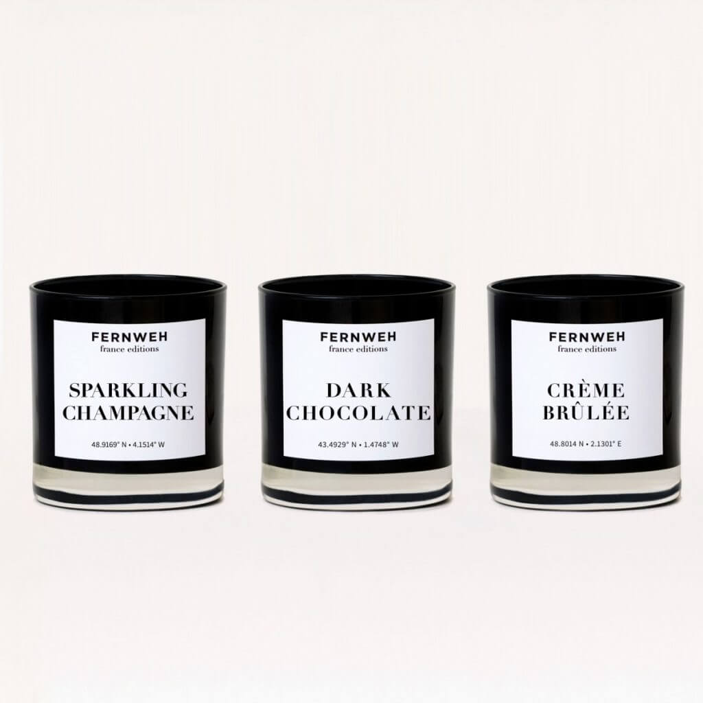Fernweh Editions travel inspired candles