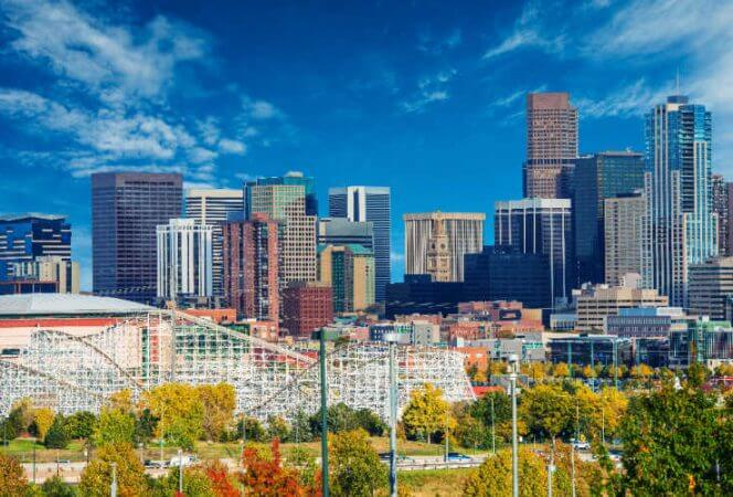 View of Downtown Denver-Kids Are A Trip