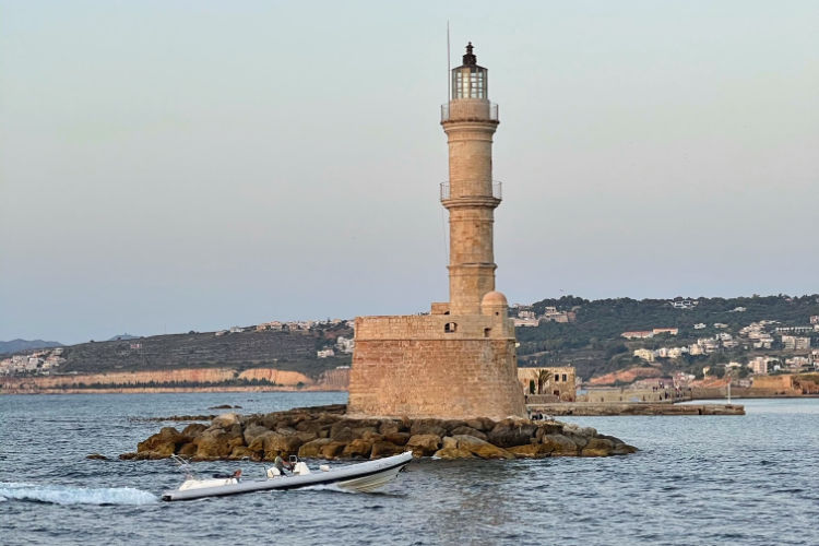 Chania Crete lighthouse boat-Kids Are A Trip