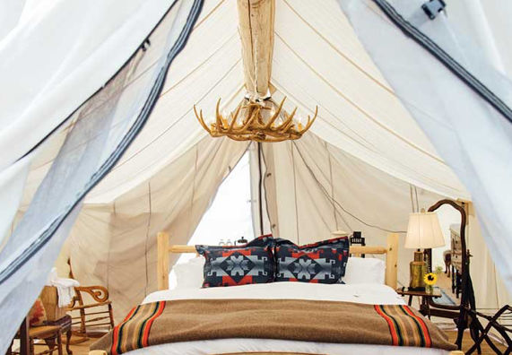 Collective Retreats bell tent