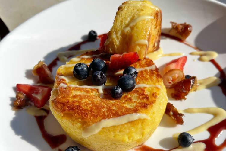 Carmelized french toast-Piper restaurant Oceanside