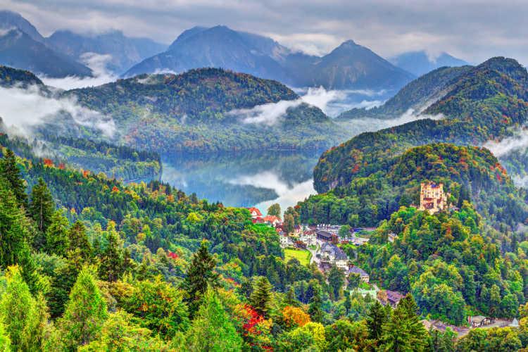 Bavaria in fall Hohenschwangau -Kids Are A Trip