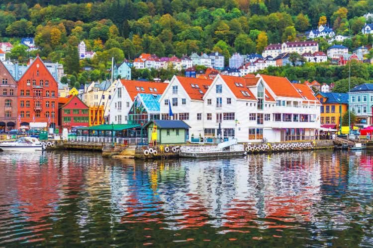 Bergen Norway harbor