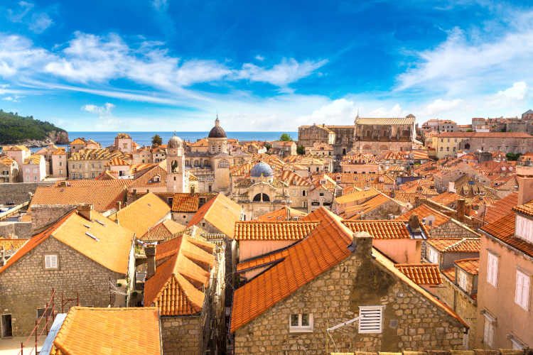 Dubrovnik rooftops Croatia
