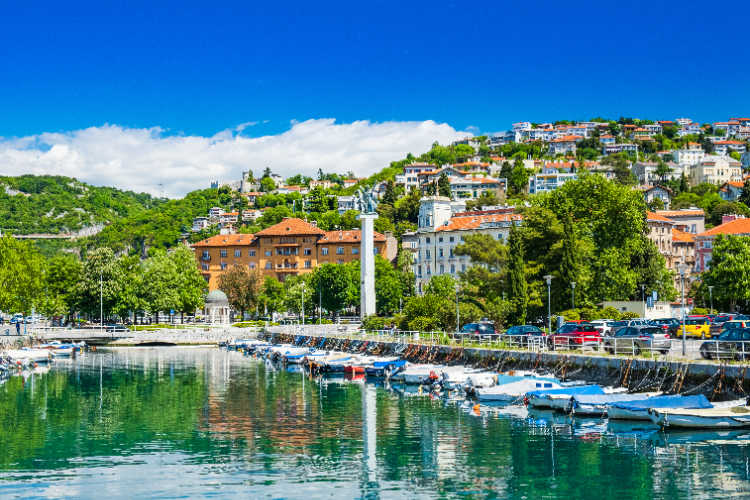 Mali Losinj harbor Losinj Croatia-Kids Are A Trip